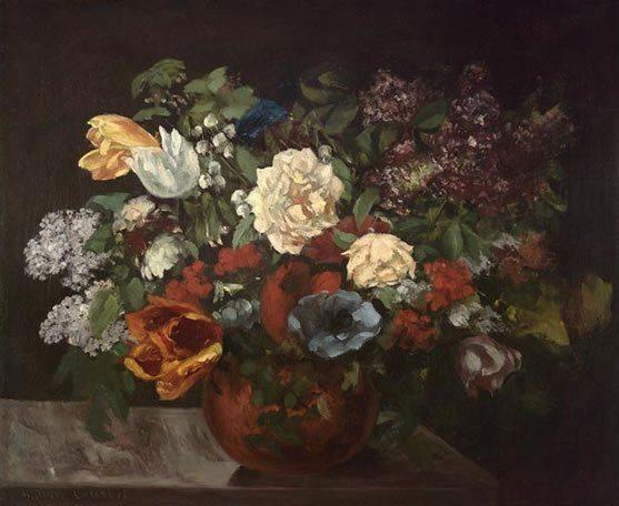 Courbet, Gustave ~ Bouquet De Fleurs
