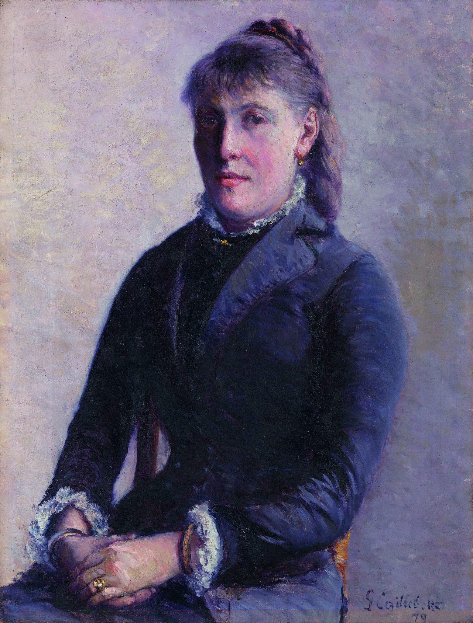 Caillebotte, Gustave ~ Portrait de Madame Anne-Marie Hagen