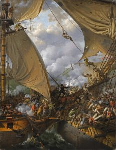 Crépin, Louis-Philippe ~ Capture of HMS Ambuscade by the French corvette Bayonnaise, 14 December 1798