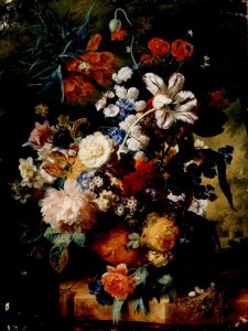 Huysum, Jan Van ~ Flowers in a Terra Cotta Vase