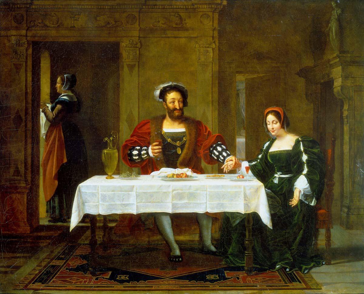 """Menjaud, Alexandre ~ François I And """"la Belle Ferronière"""""""