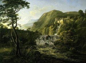 Dahl, Johann Christian ~ Mountain Landscape with a Castle