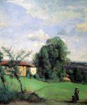 Corot, Jean-Baptiste-Camille ~ Une ferme à Dardagny