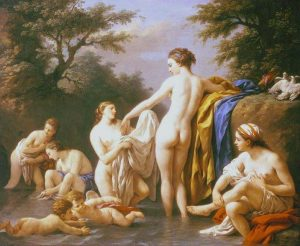 Lagrenée, Louis-Jean-François ~ Venus and Nymphs Bathing