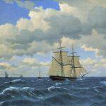Eckersberg, Christoffer Wilhelm ~ A Brig under Sail in fair Weather (En Brig under selj i godt vejr)