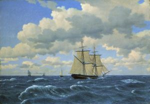 Eckersberg, Christoffer Wilhelm ~ A Brig under Sail in fair Weather (En Brig under selj i godt vejr)
