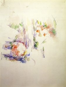 Cézanne, Paul ~ A Tree Trunk with Flowers