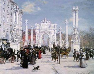 Raffaelli, Jean-François ~ Admiral Dewey's Arch, Lower Fifth Avenue, New York
