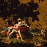 Falciatore, Filippo ~ Aeneas and Achates hunting stags on the coast of Libya
