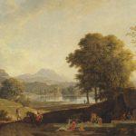 Valenciennes, Pierre Henri de ~ An Ideal Classical Landscape with Washerwomen around a Fountain