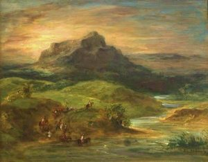 Delacroix, Eugène ~ Arab Riders Crossing The Sebou River