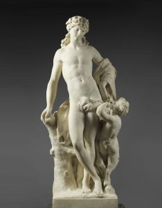 Lemoyne, Jean-Louis ~ Bacchus leaning against a tree (one of a pair)