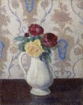 Dubois-Pillet, Albert ~ Bouquet de roses dans un vase