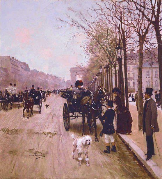 Béraud, Jean ~ Carriages On The Champs-Élysées