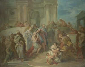Lemoyne, François ~ Christ Healing the Blind Man