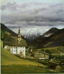 Bendz, Vilhelm-Ferdinand ~ Church at Ramsau, Austria