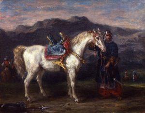 Delacroix, Eugène ~ Circassien tenant son cheval par la bride