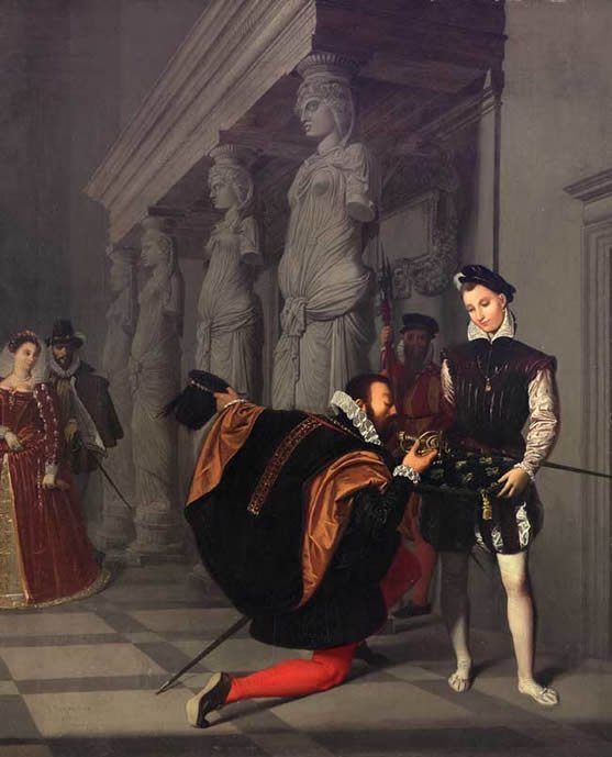 Ingres, Jean Auguste-Dominique ~ Don Pedro Of Toledo Kissing The Sword Of Henri IV