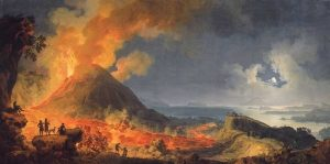 Volaire, Pierre-Jacques ~ Eruption Of Vesuvius By Moonlight