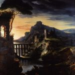 Géricault, Jean-Louis-Theodore ~ Evening: Landscape with an Aqueduct