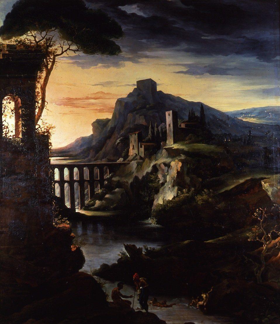Géricault, Jean-Louis-Theodore ~ Evening: Landscape with an Aqueduct