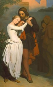 Scheffer, Ary ~ Faust And Marguerite In The Garden