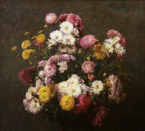 Fantin-Latour, Henri ~ Fleurs, Chrysanthèmes