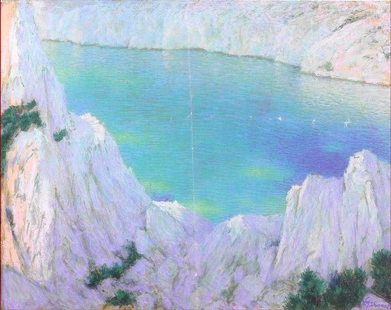 Lévy-Dhurmer, Lucien ~ La Calanque – The Rocky Creek