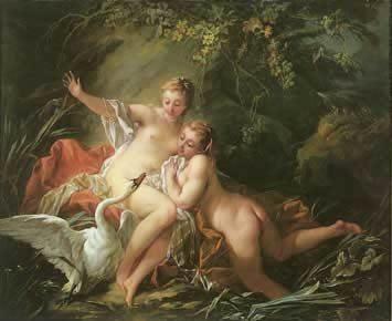 Boucher, François ~ Leda And The Swan