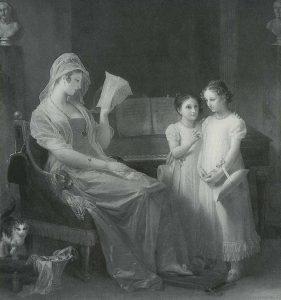 Gérard, Marguerite ~ Mère faisant la lecture a ses filles'