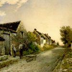 Cazin, Jean-Charles ~ Normandy Village Street at Dusk