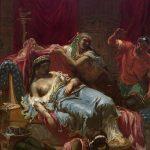 Lassalle-Bordes, Gustave ~ Oriental Scene: The Death of Cleopatra