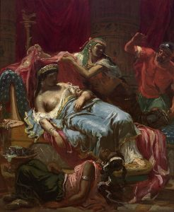 Lassalle-Bordes, Gustave ~ Oriental Scene: The Death of Cleopatra