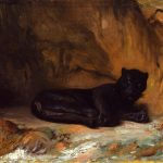 Gérôme, Jean-Léon ~ Panthère Noire Couchée