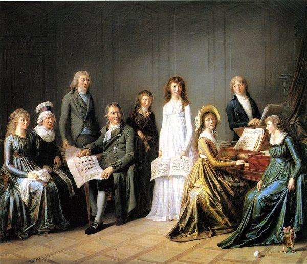 Legrand de Lérant, Pierre-Nicolas-Sicot ~ Portrait of Johann Bürgi, Commissaire Général of the Canton of Berne, and his Family