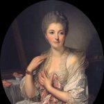 Greuze, Jean-Baptiste ~ Portrait Of Madame De Courcelles At Her Toilette