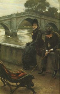 Tissot, James Jacques Joseph ~ Richmond Bridge, Tissot and Mrs. Newton