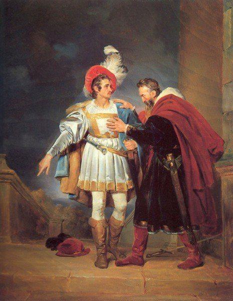 """Fragonard, Alexandre-Evariste ~ Rodrigo de Bivar """"El Cid"""" and his Father, Don Diego"""