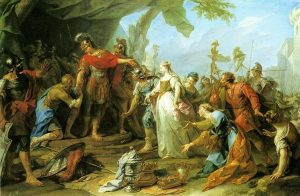 Restout, Jean ~ Scipio returning to Allutius his Betrothed