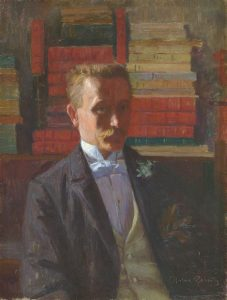 Goeneutte, Norbert ~ Self-Portrait in the artist's library