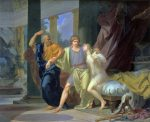 Regnault, Baron Jean-Baptiste ~ Socrates Tearing Away Alcibiades from the Embrace of Sensuality