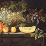 School, Probably Valencian Spanish ~ Still-life With A Bowl Of Grapes