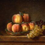 Roland de la Porte, Henri-Horace ~ Still Life with Basket of Peaches
