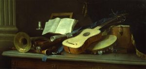 Vallayer-Coster, Anne ~ Still Life with Musical Instruments