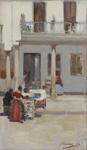 Lavery, Sir John ~ Street Scene in Andalusia