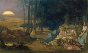 Puvis de Chavannes, Pierre ~ Study For Sleep