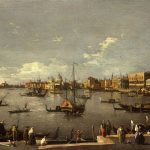 Canale called Il Canaletto, Giovanni Antonio ~ The Bacino di San Marco: looking West from the Riva degli Schiavoni