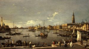 Canale called Il Canaletto, Giovanni Antonio ~ The Bacino di San Marco: looking West from the Riva degli Schiavoni