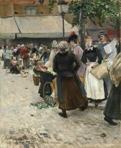 Goeneutte, Norbert ~ The Flower Market