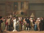 Boilly, Louis-Léopold ~ The Public Viewing David's Coronation at the Louvre